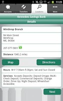 Screenshot of Kennebec Savings Bank Mobile