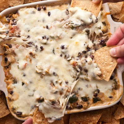 Spicy Chicken and Chile Taco Dip