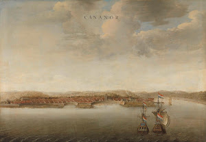 RIJKS: attributed to Johannes Vinckboons: View of Cannanore on the Malabar Coast in India 1663