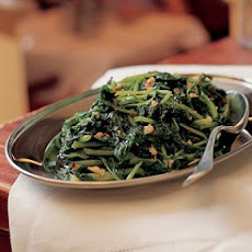Greens with Garlic and Chili (Verdura Strascinata)
