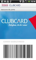 Screenshot of Tesco Clubcard