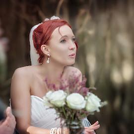 Marelize by Matt Stern - Wedding Bride ( red hair, female, matt stern photography, wedding, bride )