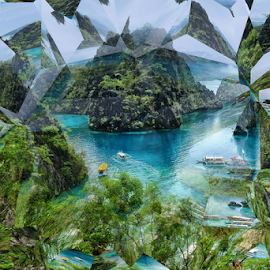 Coron Crystal Shaped by Ferdinand Ludo - Abstract Patterns ( busuanga, boat ride, coron, kayangan lake, palawan )