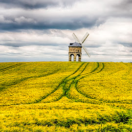 Chesterton Windmill by Stephen Tyler - Landscapes Prairies, Meadows & Fields ( hdr, landscapes, windmills, fields,  )
