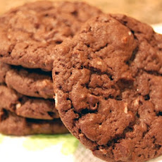 Double Chocolate Coconut Cake Mix Cookies