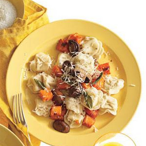 Tortellini With Butternut Squash, Mushrooms, and Fontina