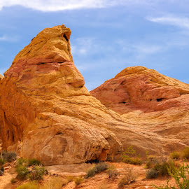 Where the Man in the Moon Goes to Sleep by Steven McCarthy - Landscapes Travel ( face, nevada, summer, sleeping, valley of fire )