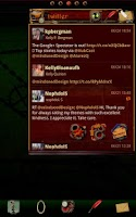 Screenshot of Steampunk Twitter GO Widget