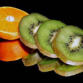 orange with kiwi by LADOCKi Elvira - Food & Drink Fruits & Vegetables ( fruits,  )