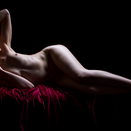 Light by Paul Phull - Nudes & Boudoir Artistic Nude ( body, art nude, low key, red head )