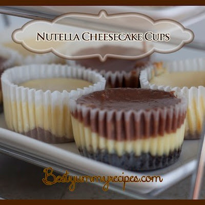 Nutella Vanilla Cheesecake Cups
