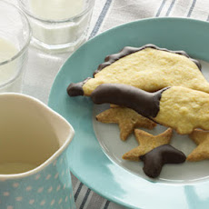 Chocolate Dipped Orange Shortbread Biscuits
