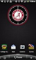 Screenshot of Alabama Crimson Tide Clock