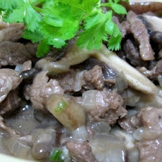 Beef Stroganoff with Mushroom (for Atkins Diet Phase 1)