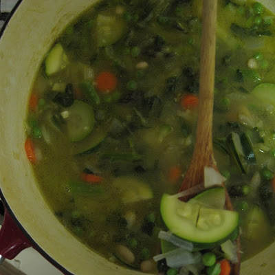 Spring Minestrone with Mint and Basil Pistou