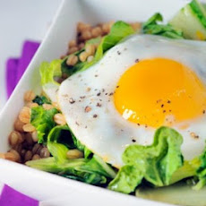 Sunny Eggs with Asian Greens