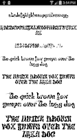 Screenshot of Fonts for FlipFont Tattoo