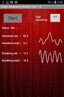 Screenshot of CardioRespiratory Monitor Free