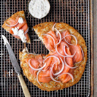 """Everything"" Potato Galette with Lox and Crème Fraîche"