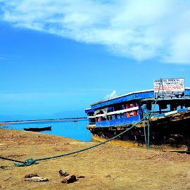 Anchored by Asif Bora - Transportation Boats