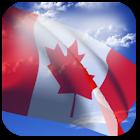 3D Canada Flag icon