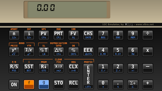 HP 12C Emulator Free Edition- screenshot