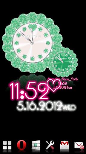 オトメ時計 グリーン ♥ギャラリープラグイン