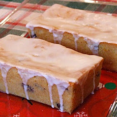 Cranberry- Orange Bread with Grand Marnier Glaze
