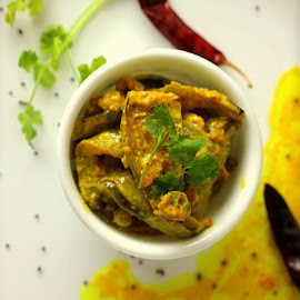 Pointed gourd with mustard... by Deepan Dasgupta - Food & Drink Plated Food