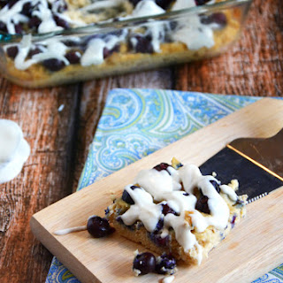 Blueberry & Coconut Coffee Cake Breakfast Bars