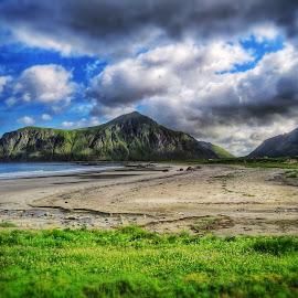 Norway Coast by Scott Anderson - Landscapes Travel ( sky, green, sea, coast, norway )