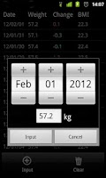 Screenshot of Weight recorder