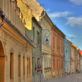 Old town street by Horia Morariu - Buildings & Architecture Homes ( street, buildings, old town, architecture, homes )