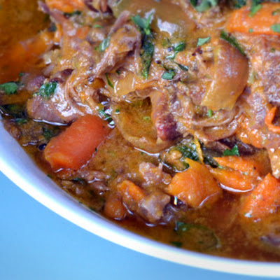 Slow Cooker Curried Goat Shanks