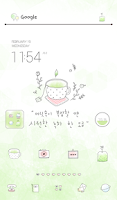Screenshot of green healing dodol theme