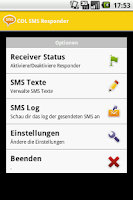 Screenshot of COL SMS Responder