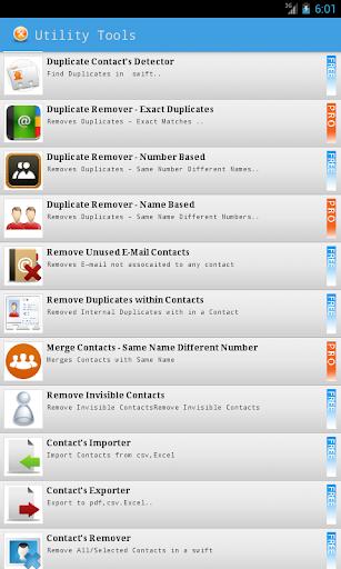 Duplicate Contacts & Utilities - screenshot