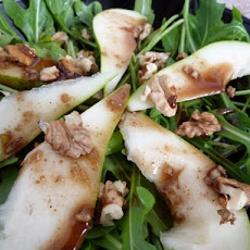 Rocket (Arugula), Pear and Walnut Salad