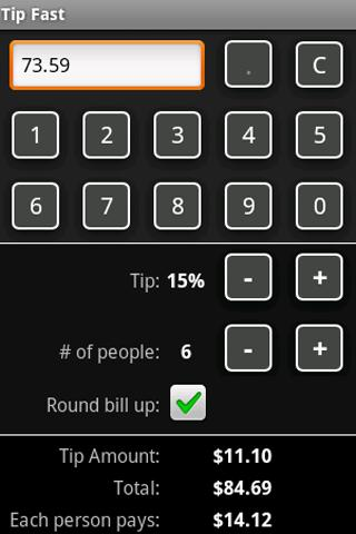Tip Fast tip calculator