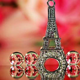by Dipali S - Artistic Objects Other Objects ( abstract, optical, reflection, optics, art, sphere, round, circle, illustion, refraction, love, eifel tower, rose, red, inspiration, mystical, magical, abstraction, artistic )