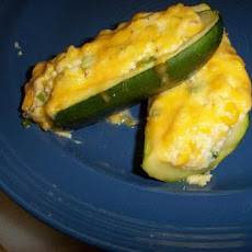 Zucchini Stuffed with Corn and Cheese
