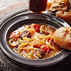 Slow-Cooker Brat and Sauerkraut Soup