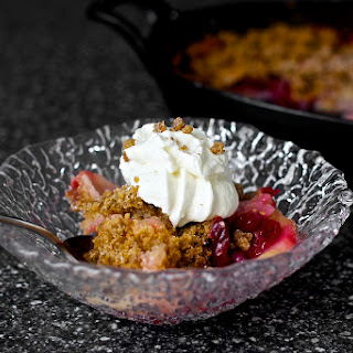 Pear Cranberry And Gingersnap Crumble