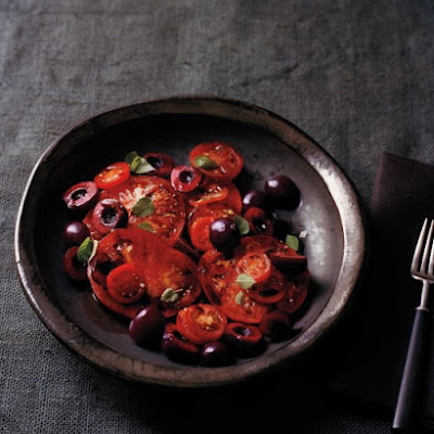 Heirloom Tomatoes with Cherries, Balsamic, and Hyssop