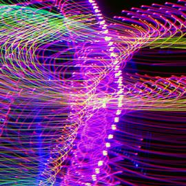 Solar wind ! by Jim Barton - Abstract Patterns ( wind, laser light, colorful, light design, solar wind, laser design, laser, light, science )