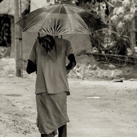 Self Sheltered.... by Santanu Chandra - People Portraits of Men