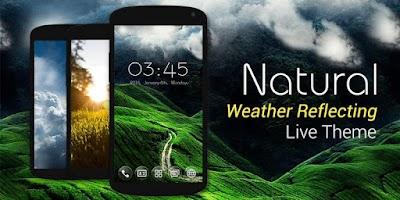 Screenshot of Natural GO Launcher Live Theme