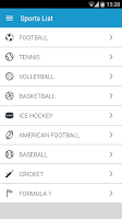 Screenshot of All4Sports Odds and Livescore