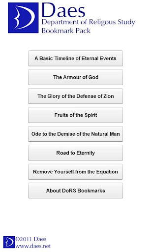 DoRS Bookmark Pack