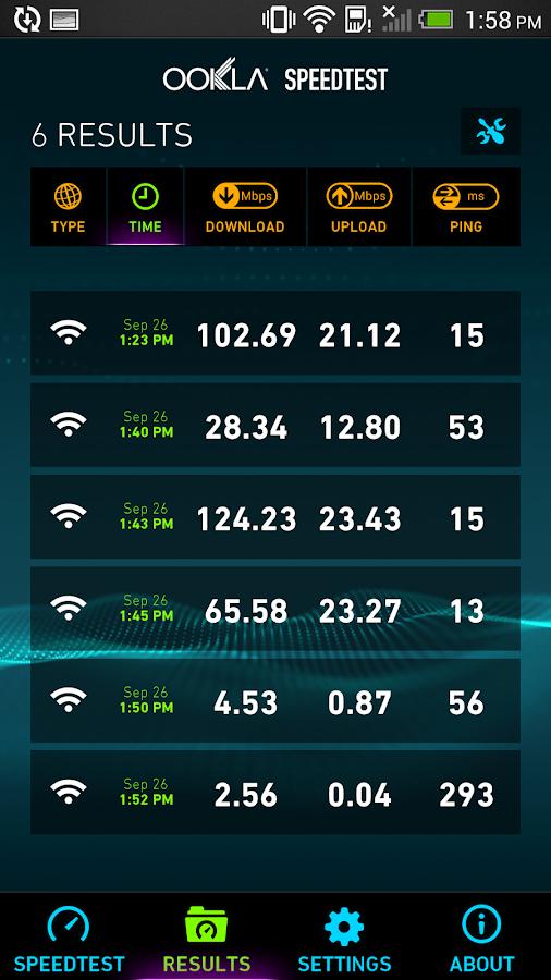 Speedtest.net – Screenshot